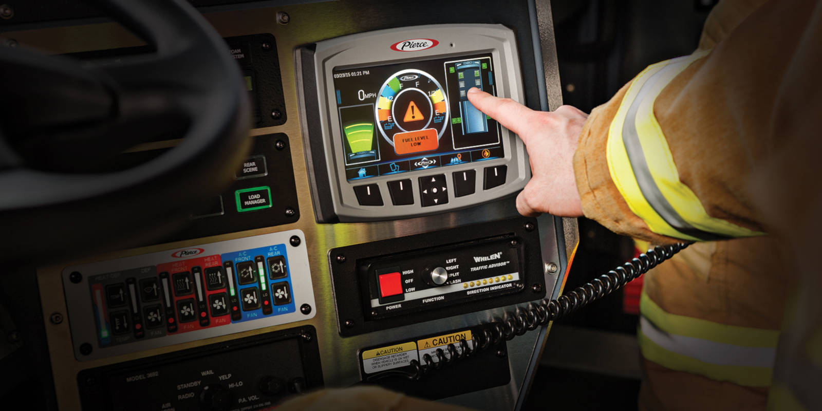 Command Zone 3 touch interface